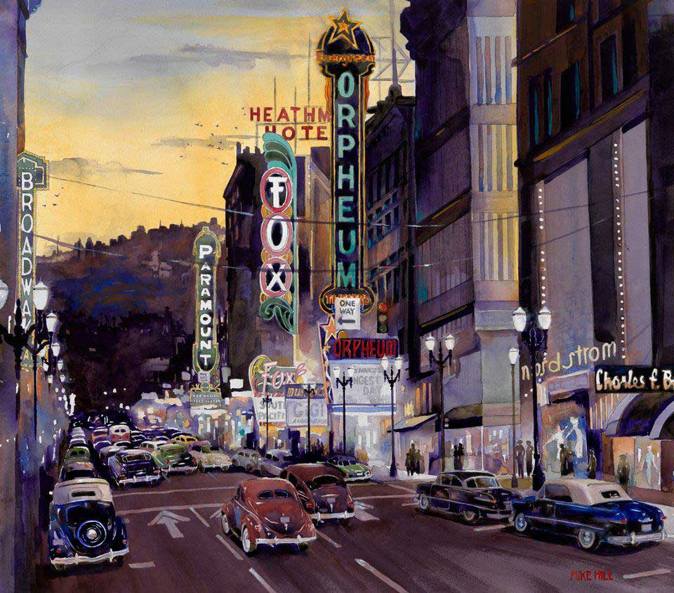 painting of old broadway